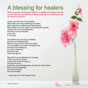 A blessing for all healers